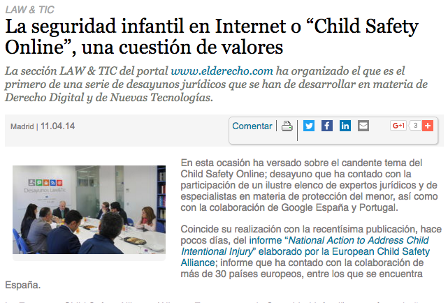 "La seguridad infantil en Internet o ""Child Safety Online"", una cuestión de valores"